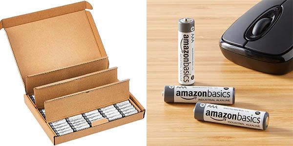 Pack x200 Pilas alcalinas AAA AmazonBasics de uso industrial baratas