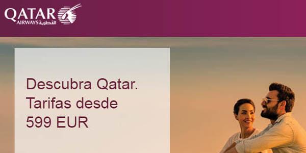 Qatar Airways ofertas en vuelos a Doha septiembre 2019