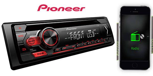 Radio CD Pioneer DEH-S110UB con USB para coche barato