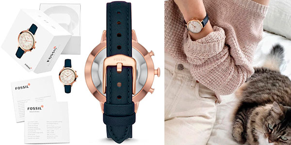 Reloj Fossil Jacqueline Navy Leather para mujer barato