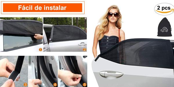 Set de 2 piezas de parasoles laterales MINLUK para coche baratos en Amazon