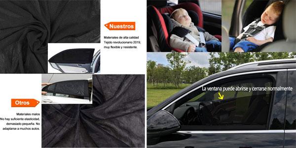 Set de 2 piezas de parasoles laterales MINLUK para coche chollo en Amazon