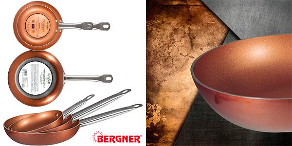 BERGNER Q2410 Set 3 sartenes 20,24,28 aluminio prensado