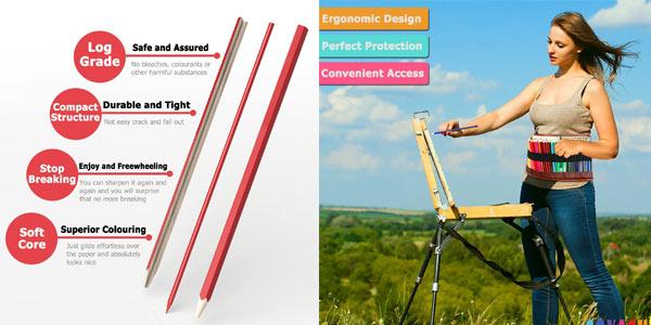Set de 36 lápices de colores Covacure en estuche enrollable chollazo en Amazon