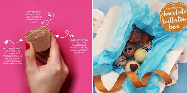 Set 6 bombas de baño Bomb Cosmetics Ballotin Box en caja regalo chollazo en Amazon