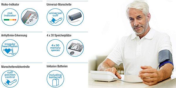 Tensiómetro de brazo Beurer BM27 con pantalla LCD y detección de arritmias barato