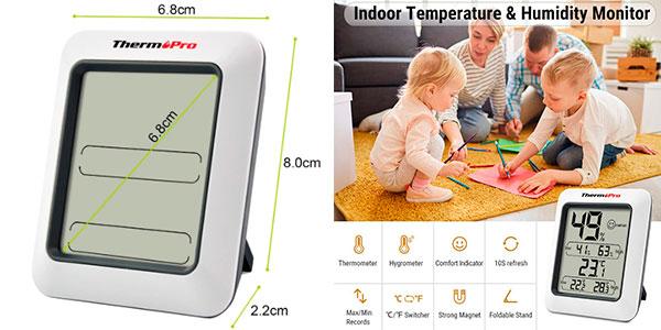 Termómetro higrómetro digital ThermoPro TP50 para interior barato