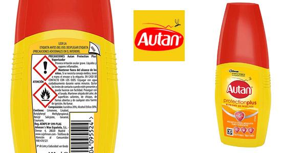 Repelente de Mosquitos Autan Protection Plus de 100 ml vaporizador barato en Amazon
