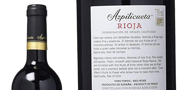 Vino Tinto Rioja (DOC) Azpilicueta Crianza 2014 75 cl chollo en Amazon