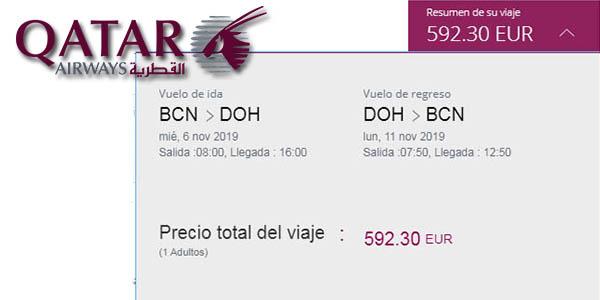 vuelos en oferta a Doha Qatar Airways