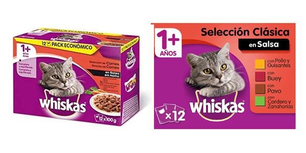 Whiskas comida humeda para gatos barata