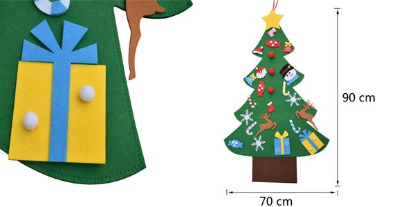 Árbol de Navidad EasyBravo de fieltro de 90 cm chollo en Amazon