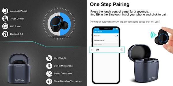 auricular inalámbricso HolyHigh Bluetooth 5.0 barato
