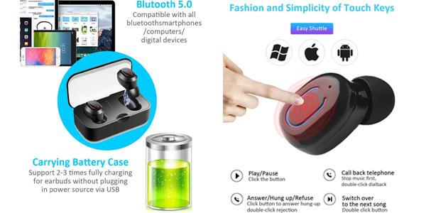 Auriculares TWS Bluetooth 5.0 Bakibo en oferta en Amazon
