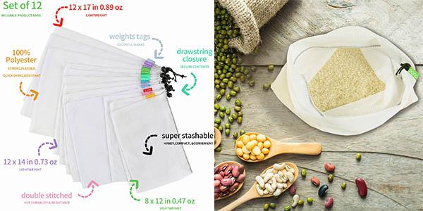 bolsas reutilizables para la compra Eono relación calidad-precio estupenda