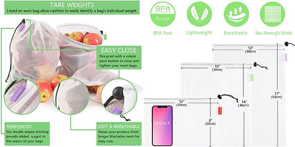 bolsas reutilizables Eono para comprar sin plástico chollo