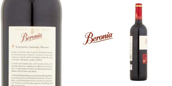 Botella Beronia Crianza 2014 D.O.C Rioja de 750 ml chollo en Amazon