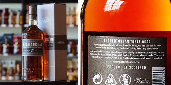 Whisky Auchentoshan Three Wood Single Malt de 700 ml chollo en Amazon