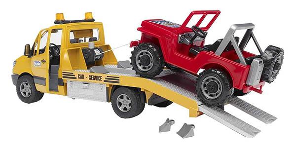 Bruder 02535 grúa remolque con coche de juguete chollo