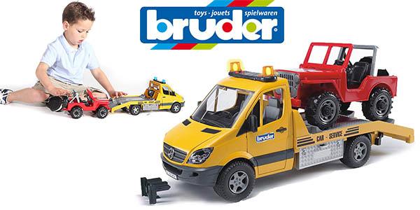 Bruder 02535 Jeep Mercedes Benz con grúa de juguete relación calidad-precio alta
