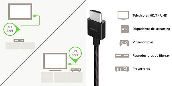 Cable Belkin Ultra HD HDMI 2.1 de 48 Gbps en Amazon
