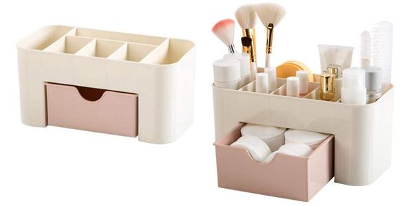 Caja organizadora de cosméticos barata en Amazon