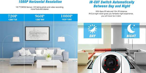 cámara de grabación doméstica Cacagoo en alta resolución relación calidad-precio imbatible