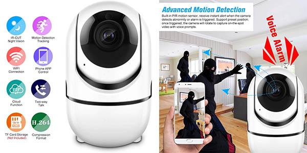 cámara de vigilancia Cacagoo con detector de movimiento oferta