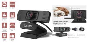 Comprar cámara web Loetad 1080p barata en Amazon