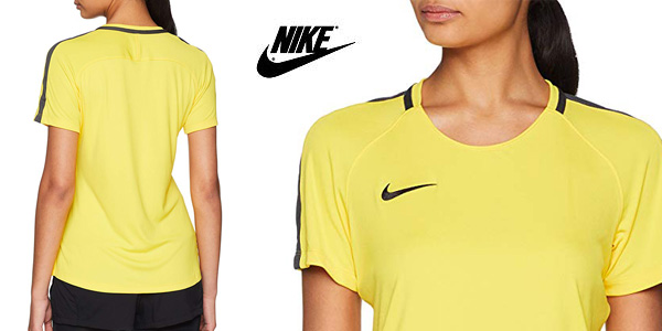 Camiseta deportiva Nike Academy18 Short Sleeve para mujer chollo en Amazon