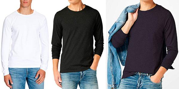Camiseta Jack & Jones básica de manga larga en varios modelos para hombre barata