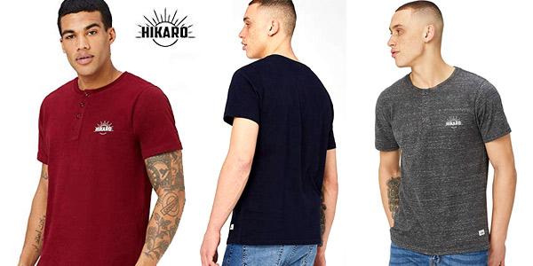 Camiseta con Botones HIKARO para Hombre chollo en Amazon