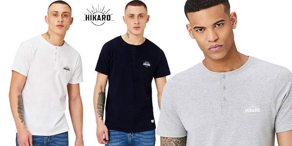 Camiseta con Botones HIKARO para Hombre barata en Amazon