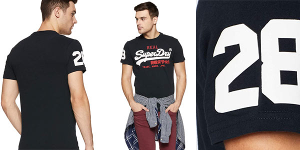 Camiseta Superdry Vintage Logo Tri Tee en oferta en Amazon