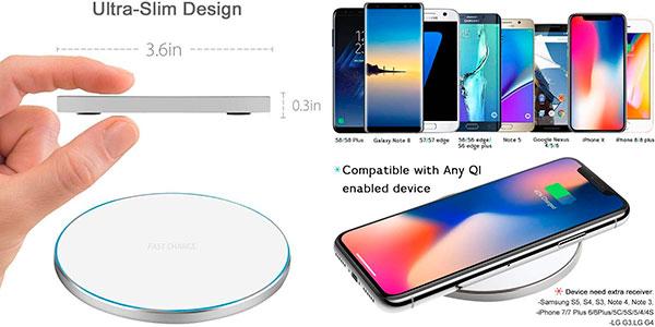 Cargador Qi Limxems WXC-607 inalámbrico para smartphone barato