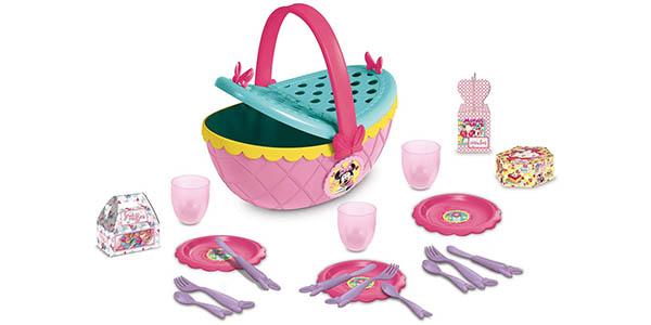 cesta Minnie Mouse de Disney con platos y accesorios oferta