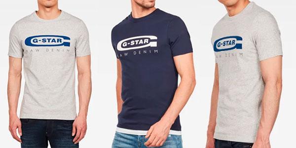 Chollo Camiseta G-Star Raw Graphic Logo 4 para hombre