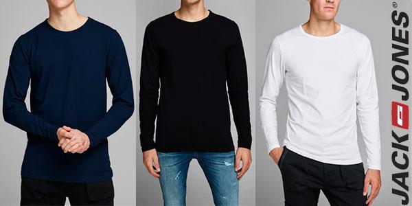 Chollo Camiseta Jack & Jones básica de manga larga en varios modelos para hombre