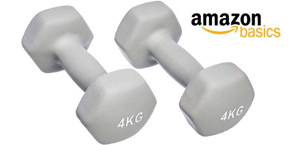 Chollo Pack AmazonBasics de 2 mancuernas de neopreno de 4 kg