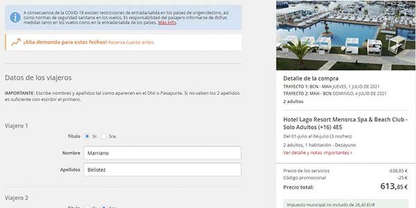 código rojo Atrápalo promoción viajes 2021