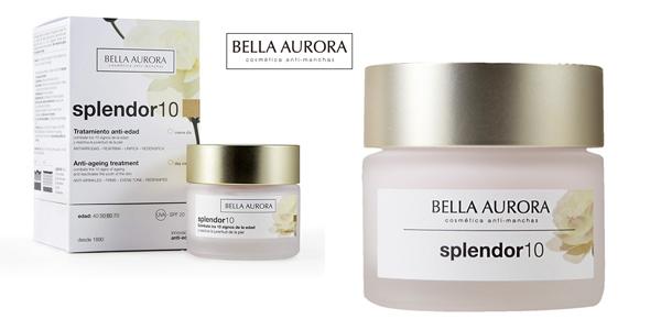 Crema facial Anti-Edad de día Bella Aurora Splendor10 para piel madura barata en Amazon