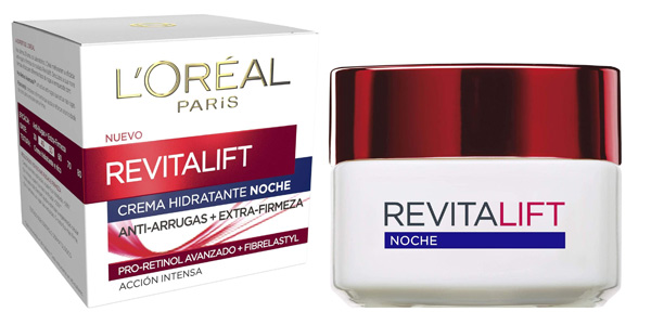 Crema de noche Antiarrugas L'Oreal Paris Revitalift Dermo Expertise con Pro-Retinol de 50 ml barata en Amazon