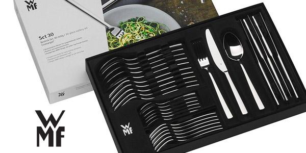 Cubertería 60 piezas WMF Alteo en acero pulido chollo en Amazon