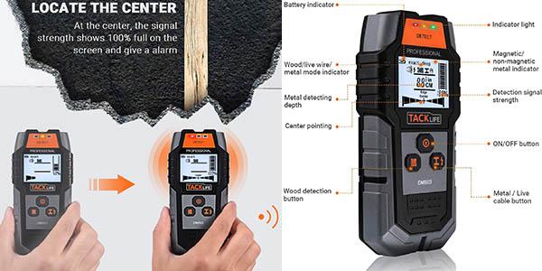 detector de pared para metales y electricidad Tacklife DMS03 chollo
