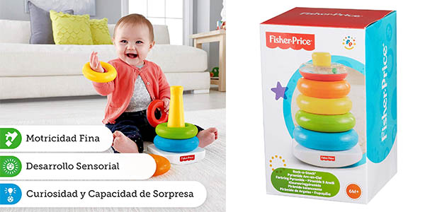 Fisher Price pirámide de aros para bebés oferta
