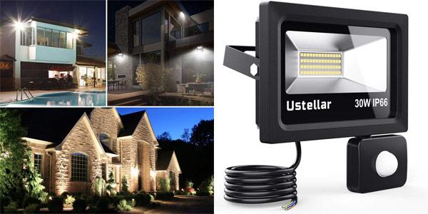Foco LED Exterior Ustellar de 30W con Sensor de Movimiento barato en Amazon