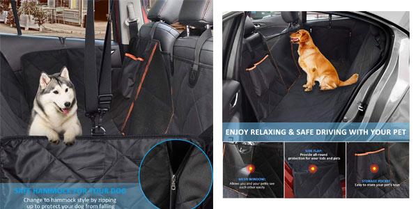Funda protectora Omorc de coche para mascotas a buen en oferta en Amazon