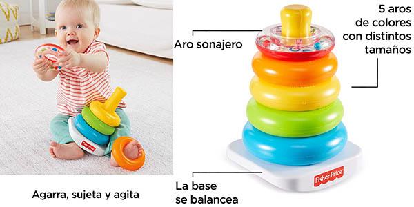 juguete para bebés de Fisher Price pirámide de aros barata