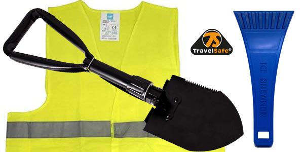 Kit dorado de emergencia en carretera SafeTravel especial invierno chollo en Amazon