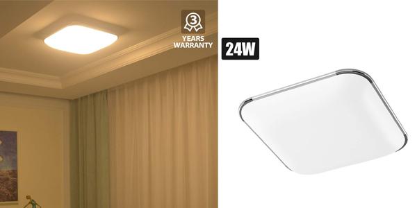 Lámpara de Techo LED LVWIT de 24 W barata en Amazon